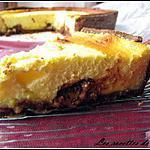 recette Tarte chocolatée au fromage blanc truffée de toblerone