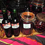 recette liqueur  de framboises de mamyloula  et autres