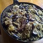 recette cotelettes échine de porc au wok et ses légumes et pommes de terre vapeur