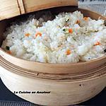 recette Riz aux herbes, carotte, courgette cuit dans le panier vapeur