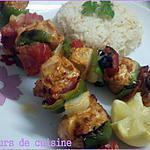 recette Brochettes de poulets et légumes
