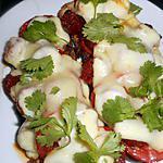 recette Tartines au chorizo et manchego