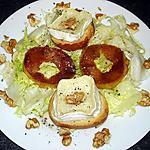 recette Salade de chèvre chaud et poire, au miel