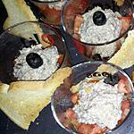 Verrines tomates et mousse de sardines