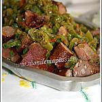 recette Rougail fleur d'z'oignon aux saucisses fumées de poulet et boucané de poulet