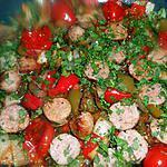 Fricassée de saucisse de toulouse aux poivrons