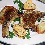 recette Cote de porc au cumin et croutons au munster