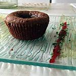 recette Fondant au chocolat-fruit rouge