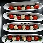 recette tomates cerises/mozzarella