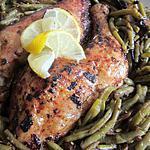 recette Poulet au Four et ses Haricots Vert