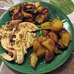 recette poulet forestier farci aux lardons et pain aillé