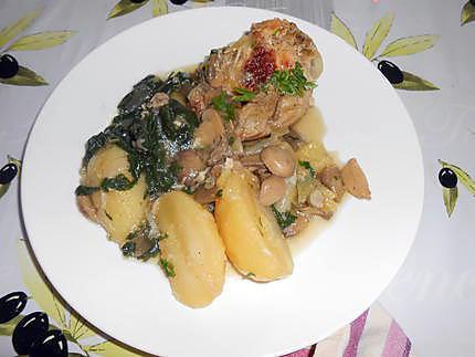 Pilons de dinde pommes de terre et blettes 430