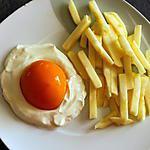 recette Oeuf sur le plat avec frites mais sucré
