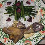 recette Poulet jaune du Gers en sauce violette .