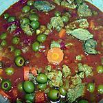 recette Sauté d'agneau aux olives et au safran
