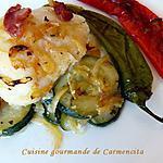 recette Cabillaud au four sur lit de courgettes