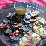 recette boeuf  sauce camenbert ,,chips de mamyloula