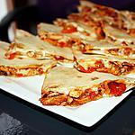 recette Quesadillas de poulet et sa salade tomates-avocats
