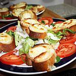 recette Salade de chèvre chaud