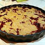 recette Crumble framboise - chocolat