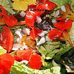 recette Salade de sucrines aux capucines