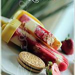 recette ~Popsicles shortcake aux fraises~