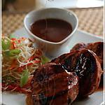 recette ~Médaillons de porc caramélisés et bien relevés~