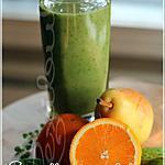 recette ~Smootie vert au poire, orange et sirop d'érable