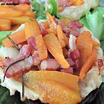 recette Tatin de carottes et lardons