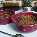 recette La créme brulée version  chocolat