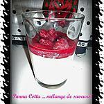 recette Panna Cotta coco, chocolat blanc et coulis de framboises