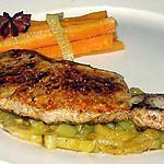 recette Côte de veau sur un lit de fenouil et carotte à l'orange