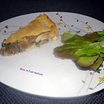 recette Tourte champignons poulet