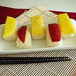recette Riz gluant au lait de coco & mangue japonisant- sans gluten ni lait ni oeuf