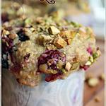 recette ~Muffins aux petits fruits et aux pistaches~