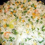 recette Riz blanc à la chinoise