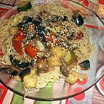 recette Nouilles aux oeufs et petits légumes