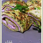 recette Omelette roulée au jambon curry et herbes fraîches