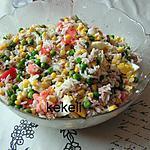 recette Salade de riz aux petits pois