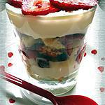 recette Trifle sablé à la fraise