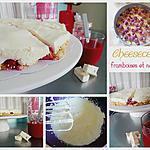 recette Cheesecake nougat et framboises