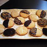 recette biscuits sablés amande / chocolat
