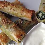 recette ciragares croustillants aux épinards et poisson