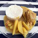 recette Poulet au curry/coco