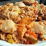 recette Jambalaya de poulet à la créole