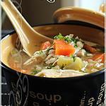recette ~Soupe réconfortante à l'orge et au poulet~