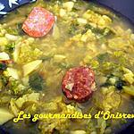 recette Soupe au chou vert frisé à l'espagnol
