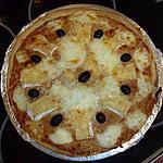 recette Pizza au camenbert et à la mozzarella