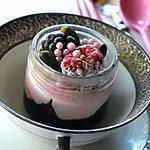 recette Verrine à la crème rose des fruits