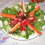 recette Salade de crudités et surimi